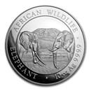 2020 Somalia 10 oz Silver Elephant BU