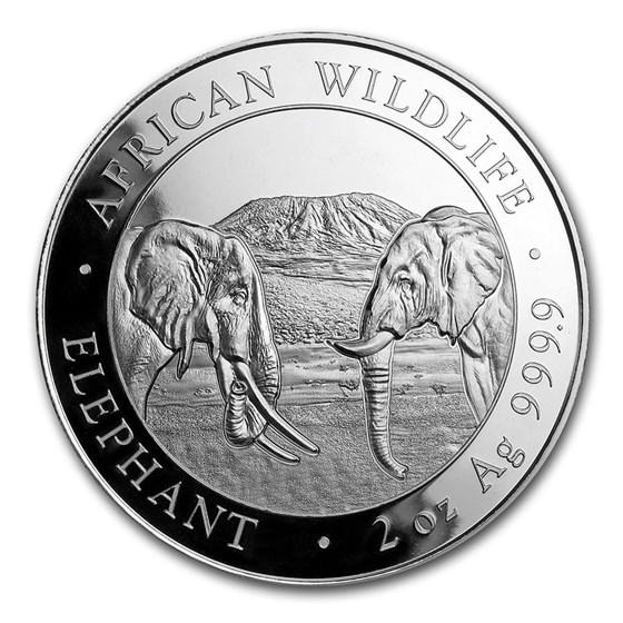 2020 Somalia 2 oz Silver Elephant BU