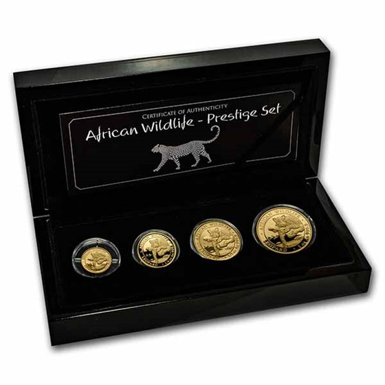 2020 Somalia 4-Coin Gold African Wildlife Leopard Prestige Set