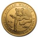 2020 Somalia 5 oz Gold African Wildlife Leopard Proof