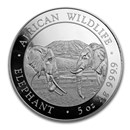 2020 Somalia 5 oz Silver Elephant BU
