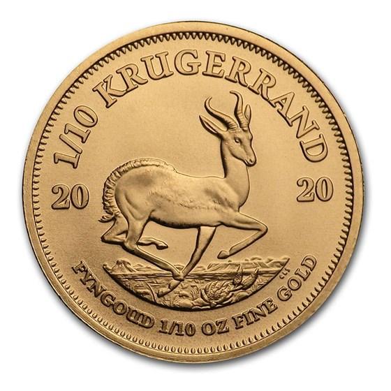 2020 South Africa 1/10 oz Gold Krugerrand