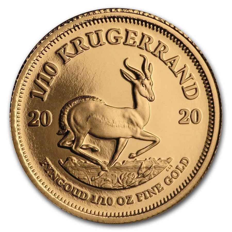 2020 South Africa 1/10 oz Proof Gold Krugerrand