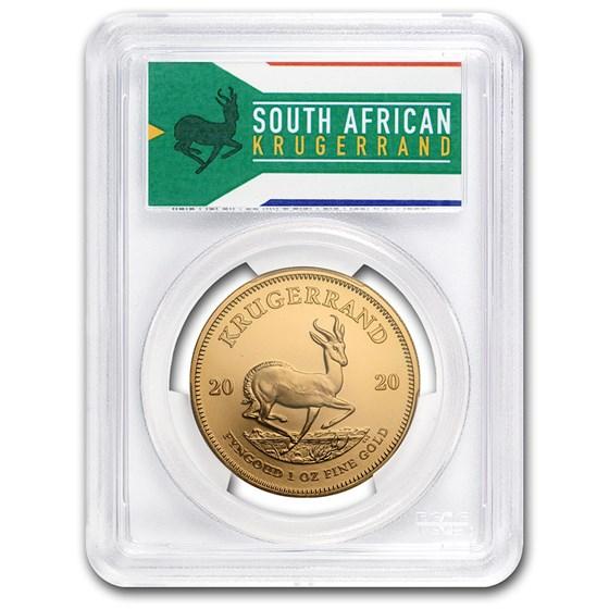 2020 South Africa 1 oz Gold Krugerrand MS-69 PCGS