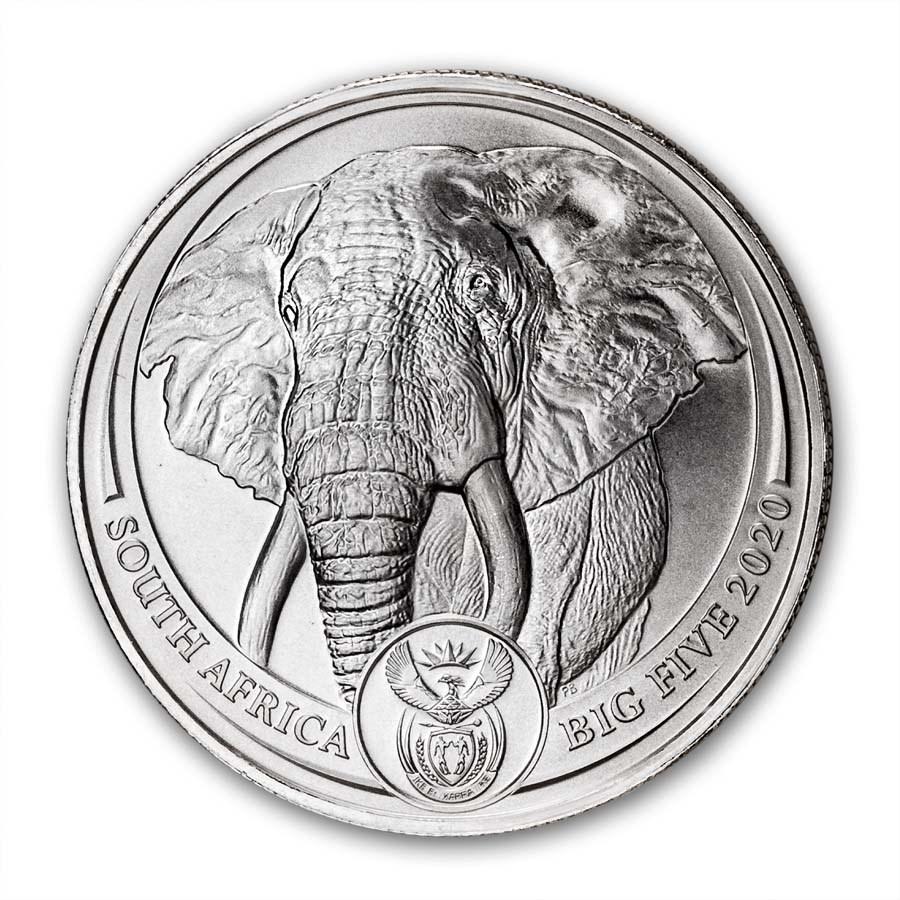 2020 South Africa 1 oz Platinum Big Five Elephant BU