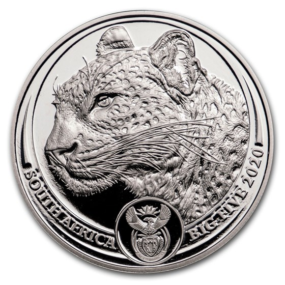 2020 South Africa 1 oz Silver Big Five Leopard BU