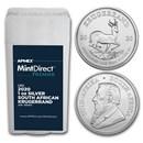 2020 South Africa 1 oz Silver Krugerrand MintDirect® Premier Tube