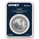 2020 South Africa 1 oz Silver Krugerrand (MintDirect® Single)