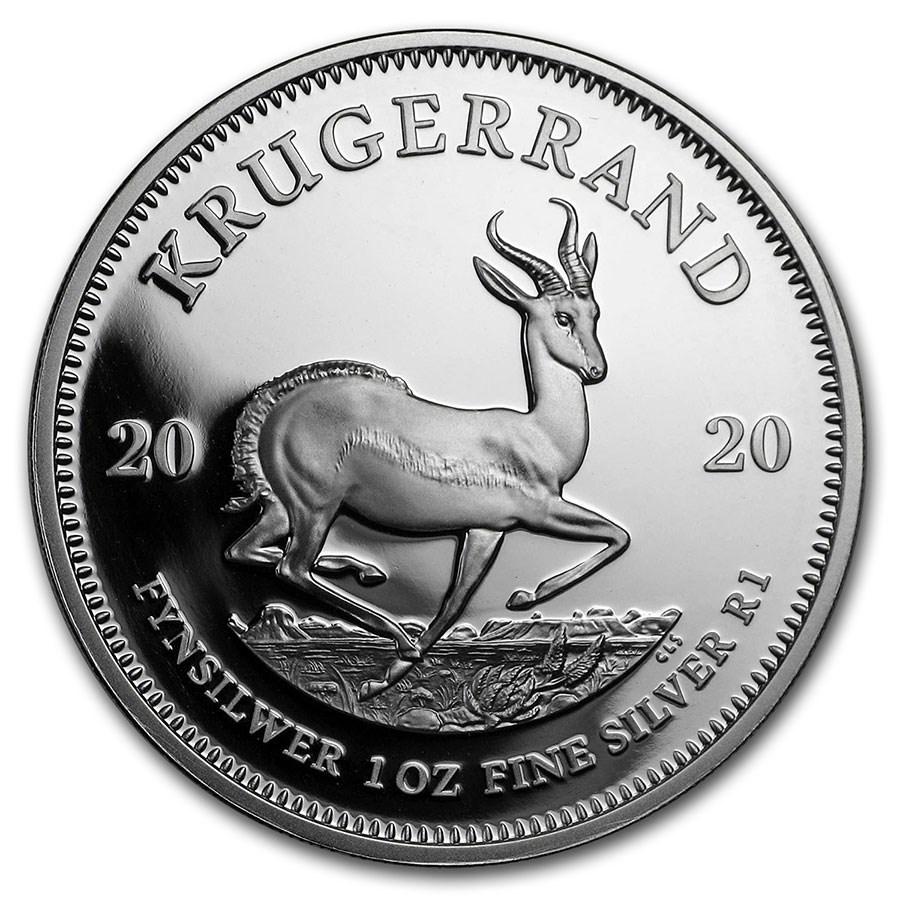 2020 South Africa 1 oz Silver Krugerrand Proof