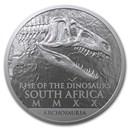 2020 South Africa 1 oz Silver Natura Dinosaur: Coelophysis BU