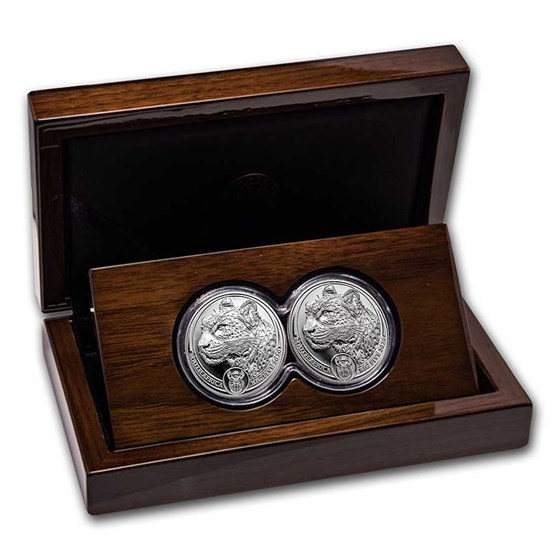2020 South Africa 2-Coin Silver Big Five Leopard Proof Set