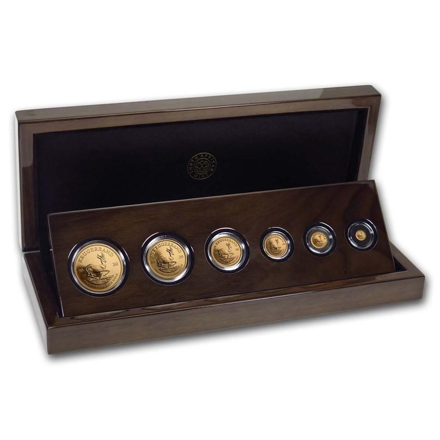 2020 South Africa 6-coin Gold Krugerrand Prestige Proof Set