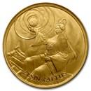 2020 South Korea 1/10 oz Gold ZI:SIN Rattus BU (in Assay Card)
