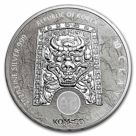 2020 South Korea 10 oz Silver Chiwoo Cheonwang BU