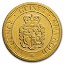 2020 St. Helena 1/4 oz Gold £25 Rose Crown Guinea BU