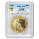 2020 St. Helena 1 oz Gold Peacock MS-70 PCGS (First Day)
