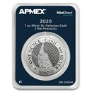 2020 St. Helena 1 oz Silver £1 Cash: The Peacock (MD® Premier)