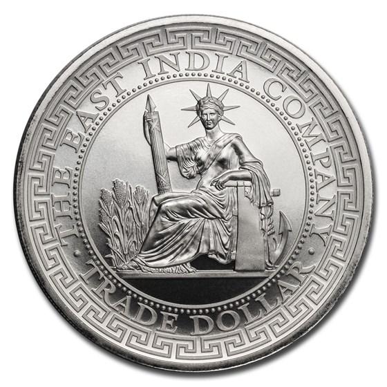 2020 St. Helena 1 oz Silver French Trade Dollar Restrike (BU)