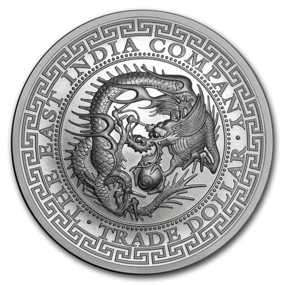 2020 St. Helena 1 oz Silver Japanese Trade Dollar Restrike (BU)
