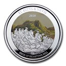 2020 St. Kitts and Nevis 1 oz Silver Brimstone Hill Proof (Color)