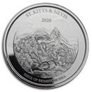 2020 St. Kitts & Nevis 1 oz Silver Brimstone Hill BU