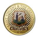 2020 St. Vincent & The Grenadines 1 oz Au Pax Et Justitia (Color)