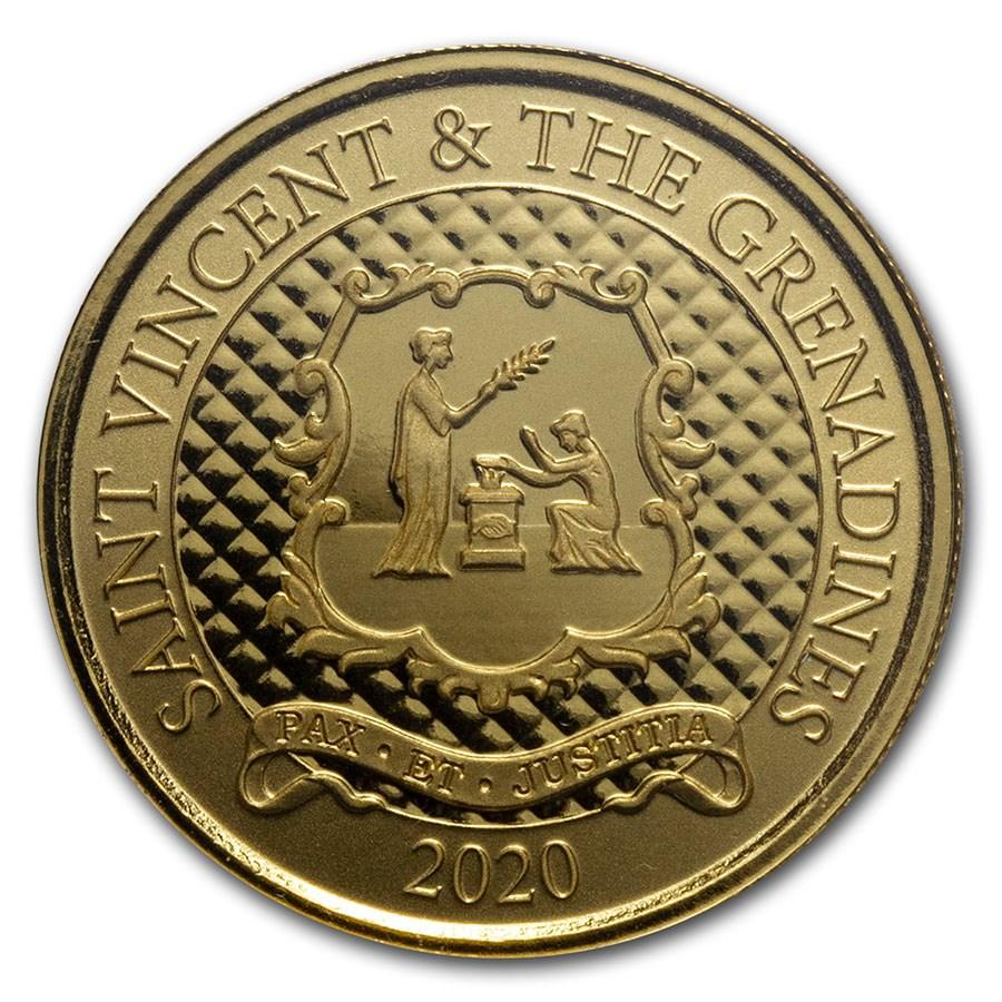 2020 St. Vincent & The Grenadines 1 oz Gold Pax Et Justitia BU
