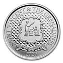 2020 St. Vincent & The Grenadines 1 oz Silver Pax Et Justitia BU