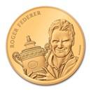 2020 Switzerland Gold 50 CHF Roger Federer Proof (w/ Artist COA)