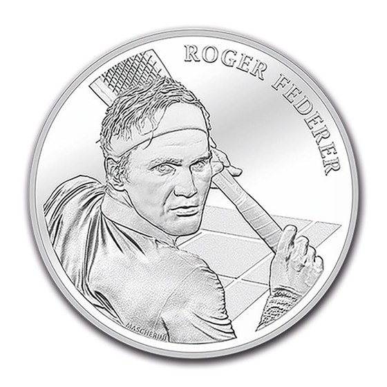2020 Switzerland Silver 20 CHF Roger Federer (w/Folder)
