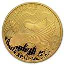 2020 Tokelau 1 oz Gold $100 Flying Fish: Hahave