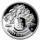 2020 Tokelau 1 oz Proof Silver Royal Portraits Queen Elizabeth II