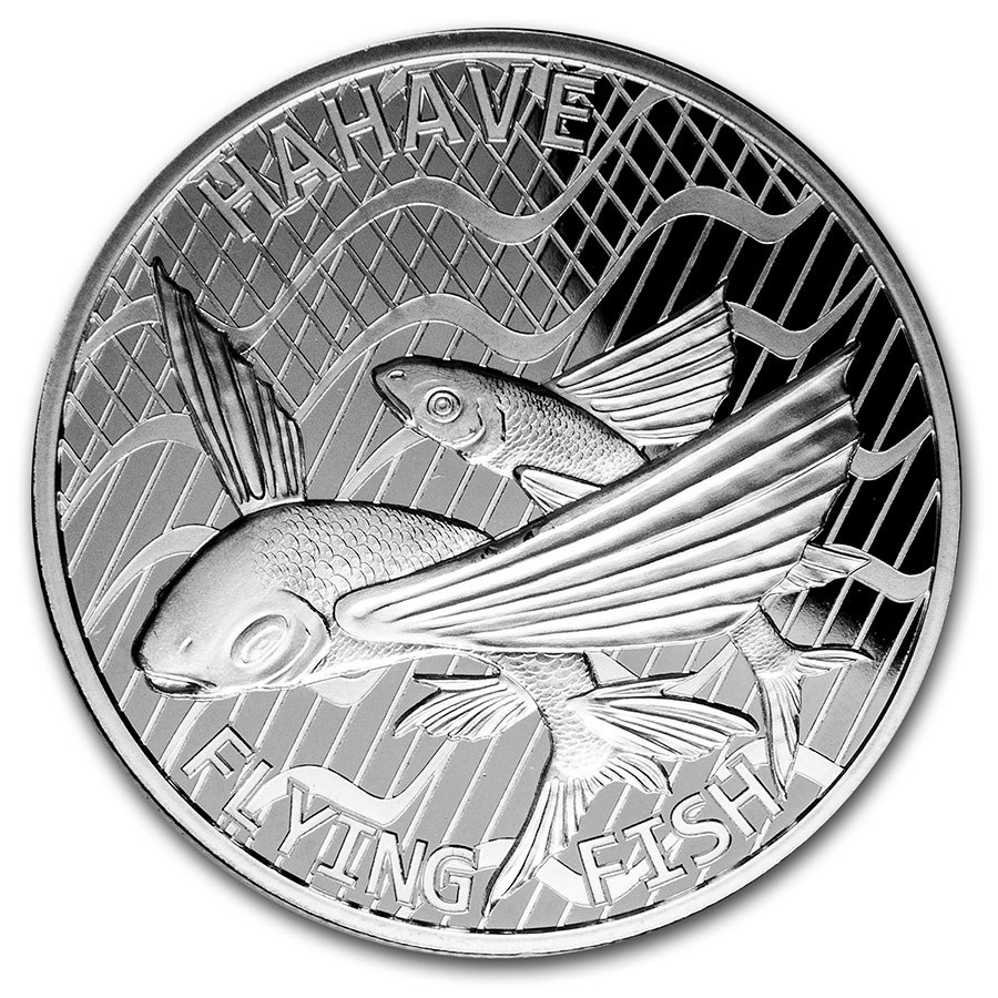 2020 Tokelau 1 oz Silver $5 Flying Fish (Hahave)
