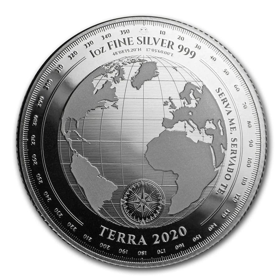 2020 Tokelau 1 oz Silver $5 Terra (Prooflike)