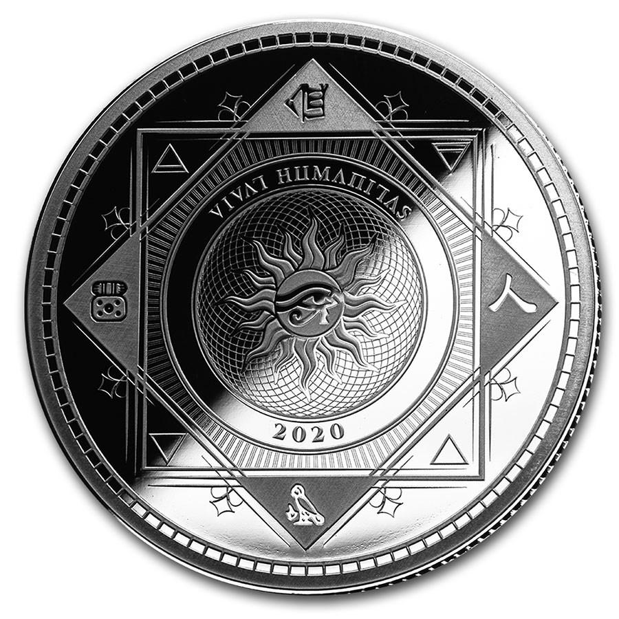 2020 Tokelau 1 oz Silver $5 Vivat Humanitas (Prooflike)