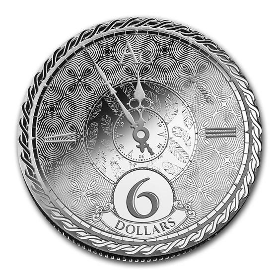 2020 Tokelau 1 oz Silver $6 Chronos (Prooflike)