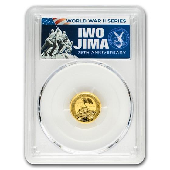 2020 Tuvalu 1/10 oz Gold Iwo Jima 75th Anniv MS-70 PCGS (FDI)