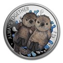 2020 Tuvalu 1/2 oz Silver Always Together Otter Proof