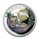 2020 Tuvalu 1/2 oz Silver Newborn Proof