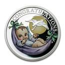2020 Tuvalu 1/2 oz Silver Newborn Proof
