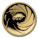 2020 Tuvalu 1/4 oz Gold 007 James Bond Proof