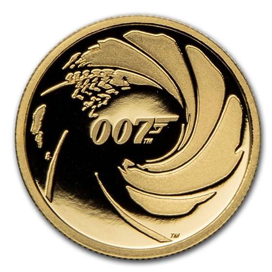2020 Tuvalu 1/4 oz Gold 007 James Bond Proof