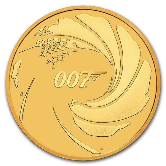 2020 Tuvalu 1 oz Gold James Bond 007 BU
