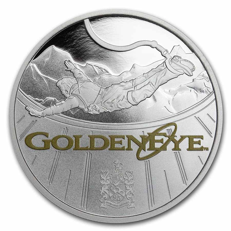 2020 Tuvalu 1 oz Silver 007 James Bond GoldenEye 25th Anniversary