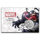 2020 Tuvalu 1 oz Silver $1 Marvel Series Venom BU (In Card)