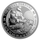 2020 Tuvalu 1 oz Silver Black Flag (The Royal Fortune)