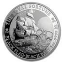2020 Tuvalu 1 oz Silver Black Flag (The Royal Fortune)