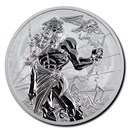 2020 Tuvalu 1 oz Silver Gods of Olympus BU (Zeus)