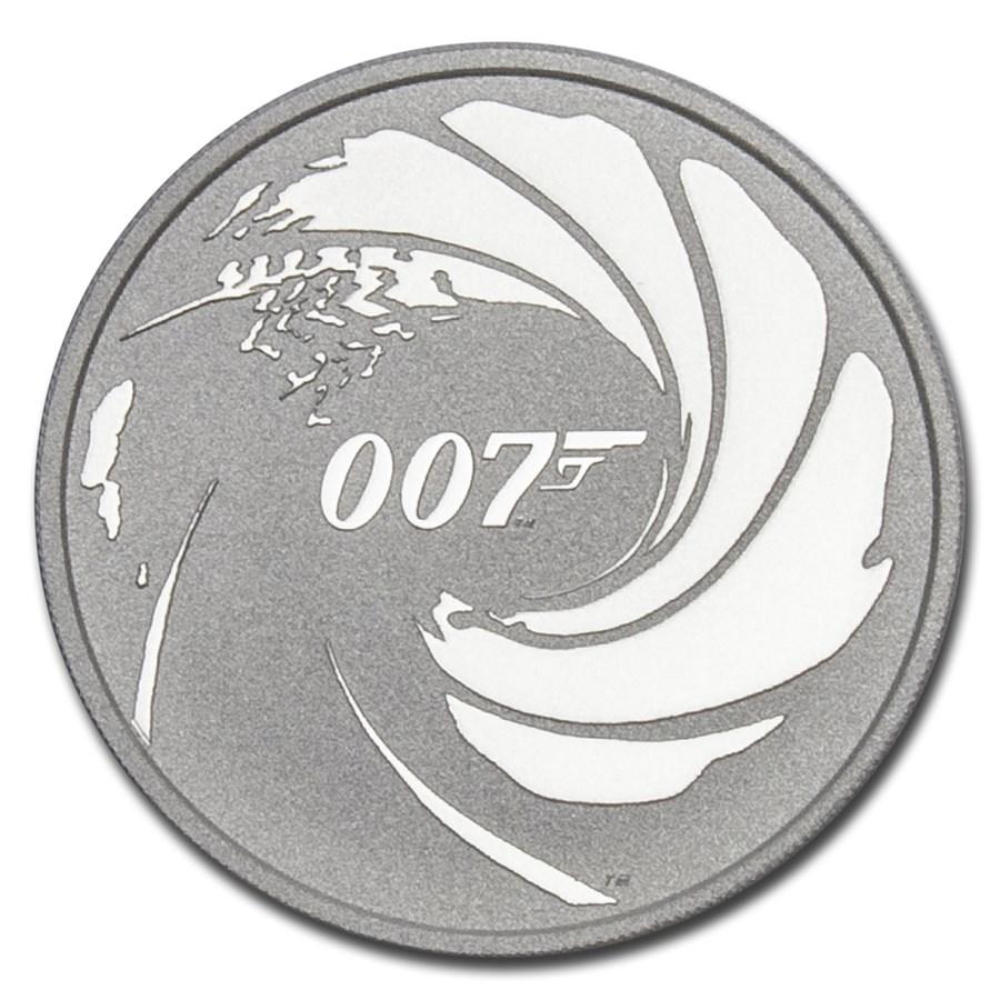 2020 Tuvalu 1 oz Silver James Bond 007 BU