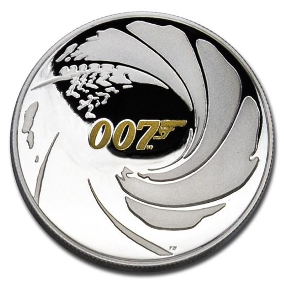 2020 Tuvalu 1 oz Silver James Bond 007 High Relief Proof